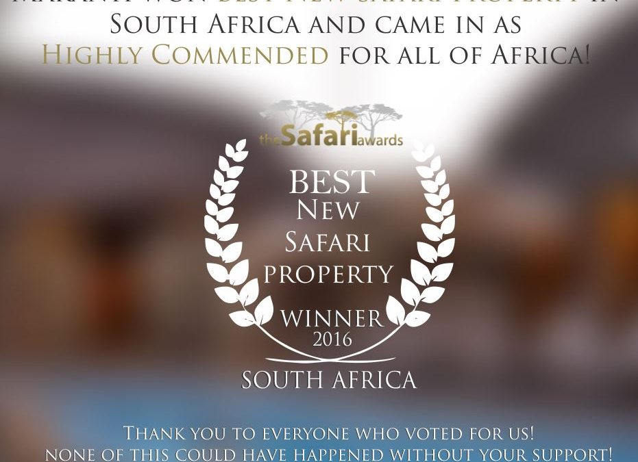 Best New Safari Property for South Africa 2016